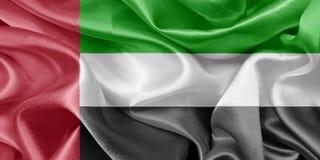 τα αραβικά εμιράτα σημαιοστολίζουν ενωμένο Στοκ εικόνες με δικαίωμα ελεύθερης χρήσης
