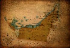 τα αραβικά εμιράτα χαρτογ& στοκ εικόνα