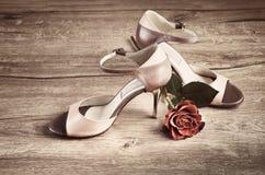 71fe11cf06b Παπούτσια τανγκό, διάστημα κειμένων Στοκ Εικόνα - εικόνα από κείμενο ...