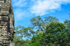 Τα αρχαία πρόσωπα πετρών του ναού Bayon, Angkor, Siem συγκεντρώνουν, Καμπότζη 1 Σεπτεμβρίου 2016 Στοκ εικόνες με δικαίωμα ελεύθερης χρήσης