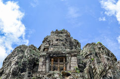 Τα αρχαία πρόσωπα πετρών του ναού Bayon, Angkor, Siem συγκεντρώνουν, Καμπότζη 1 Σεπτεμβρίου 2016 Στοκ φωτογραφίες με δικαίωμα ελεύθερης χρήσης