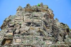 Τα αρχαία πρόσωπα πετρών του ναού Bayon, Angkor, Siem συγκεντρώνουν, Καμπότζη 1 Σεπτεμβρίου 2016 Στοκ Εικόνα