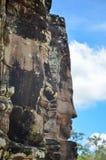 Τα αρχαία πρόσωπα πετρών του ναού Bayon, Angkor, Siem συγκεντρώνουν, Καμπότζη 1 Σεπτεμβρίου 2015 Στοκ Εικόνες