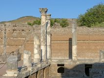 Τα αρχαία υπολείμματα μιας ρωμαϊκής πόλης του Λάτσιο - της Ιταλίας 01 Στοκ Φωτογραφία