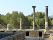 Τα αρχαία υπολείμματα μιας ρωμαϊκής πόλης του Λάτσιο - της Ιταλίας 02 Στοκ Εικόνες