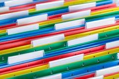 Τα αρχεία με τις ετικέττες κλείνουν επάνω Στοκ φωτογραφία με δικαίωμα ελεύθερης χρήσης