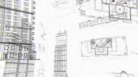 Τα αρχιτεκτονικά και κατασκευαστικά σχέδια, περιτυλίχτηκαν υπόβαθρο απεικόνιση αποθεμάτων