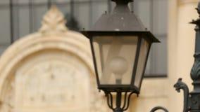 Τα αρχιτεκτονικά στοιχεία του κεντρικού μεταλλεύματος λούζουν στη Sofia, Βουλγαρία, πίνακας ονόματος απόθεμα βίντεο