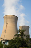 Τα ασιατικά κινέζικα, Πεκίνο, εγκαταστάσεις θερμικής παραγωγής ενέργειας, δροσίζοντας πύργος, Στοκ εικόνα με δικαίωμα ελεύθερης χρήσης