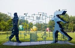 Τα ασιατικά κινέζικα, Πεκίνο, διεθνές πάρκο γλυπτών, η ηλικία πληροφοριών Στοκ Φωτογραφίες