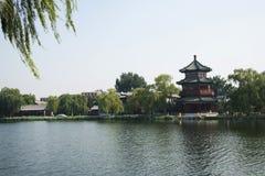 Τα ασιατικά κινέζικα, Πεκίνο, παλαιά κτήρια, hailou WANG Στοκ Εικόνες