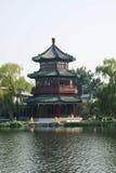 Τα ασιατικά κινέζικα, Πεκίνο, παλαιά κτήρια, hailou WANG Στοκ Εικόνα