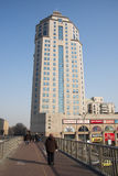 Τα ασιατικά κινέζικα, Πεκίνο, σύγχρονη αρχιτεκτονική, κτήριο Fangyuan Στοκ Εικόνες