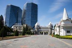 Τα ασιατικά κινέζικα, Πεκίνο, σύγχρονη αρχιτεκτονική, οικοδόμηση Στοκ Εικόνες