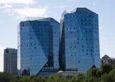 Τα ασιατικά κινέζικα, Πεκίνο, σύγχρονη αρχιτεκτονική, οικοδόμηση Στοκ Φωτογραφίες