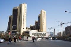 Τα ασιατικά κινέζικα, Πεκίνο, σύγχρονη αρχιτεκτονική, πολυ διεθνές θέατρο Στοκ Εικόνες