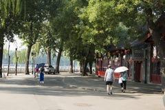 Τα ασιατικά κινέζικα, Πεκίνο, Shichahai, archi τοπίων Στοκ εικόνα με δικαίωμα ελεύθερης χρήσης