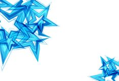 Τα αστέρια διασκορπίζουν το μπλε διάνυσμα υποβάθρου τεχνολογίας αφηρημένο illustr διανυσματική απεικόνιση