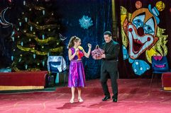 Τα αστέρια τσίρκων εκτελούν το φόρεμα UPS εστίασης Στοκ εικόνες με δικαίωμα ελεύθερης χρήσης