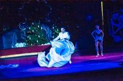 Τα αστέρια τσίρκων εκτελούν το φόρεμα UPS εστίασης Στοκ φωτογραφία με δικαίωμα ελεύθερης χρήσης