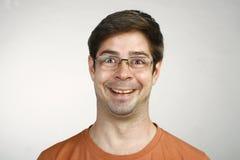 Τα αστεία άτομα αντιμετωπίζουν τα γυαλιά Στοκ Εικόνα