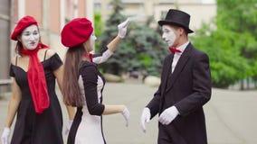 Τα αστεία mimes στην πόλη φιλμ μικρού μήκους