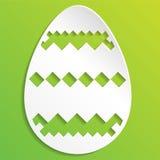 τα αυγά Πάσχας ανασκόπησης απομόνωσαν το λευκό διακοσμημένη απεικόνιση αυγών Πάσχας ελεύθερη απεικόνιση δικαιώματος