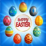 τα αυγά Πάσχας ανασκόπησης θέτουν τρία απεικόνιση αποθεμάτων