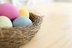 τα αυγά Πάσχας ανασκόπησης θέτουν τρία Στοκ φωτογραφία με δικαίωμα ελεύθερης χρήσης