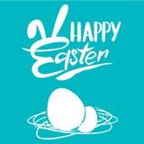 τα αυγά Πάσχας ανθίζουν το κουνέλι απεικόνισης Στοκ Εικόνα