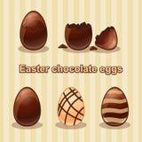 τα αυγά Πάσχας σοκολάτας στρέφουν εκλεκτικό Στοκ Φωτογραφία