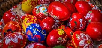 τα αυγά Πάσχας χρωμάτισαν π&al Στοκ εικόνα με δικαίωμα ελεύθερης χρήσης