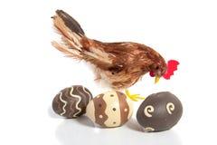 τα αυγά Πάσχας χρωμάτισαν τ&r Στοκ Εικόνα