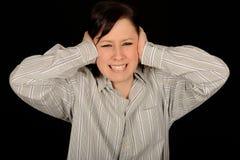 τα αυτιά παραδίδουν τη γυναίκα στοκ φωτογραφίες με δικαίωμα ελεύθερης χρήσης