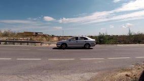 Τα αυτοκίνητα περνούν στην Ισπανία απόθεμα βίντεο