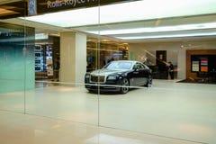 Τα αυτοκίνητα Rolls-$l*royce παρουσιάζουν δωμάτιο στη Μπανγκόκ Ταϊλάνδη Στοκ φωτογραφία με δικαίωμα ελεύθερης χρήσης