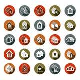 Τα αφηρημένα εικονίδια σπιτιών, μπορούν να χρησιμοποιηθούν στη διαφήμιση και ως brandin Στοκ Εικόνες