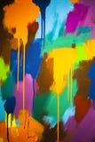 Τα αφηρημένα κτυπήματα του χρώματος στα διαφορετικά χρώματα στον καμβά στοκ φωτογραφία με δικαίωμα ελεύθερης χρήσης