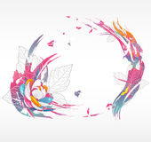 τα αφηρημένα λουλούδια α& ελεύθερη απεικόνιση δικαιώματος
