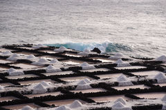 Τα αλατισμένα τηγάνια Fuencaliente, Λα Palma, Κανάρια νησιά στοκ εικόνες με δικαίωμα ελεύθερης χρήσης