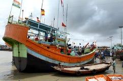 Τα αλιευτικά πλοιάρια Στοκ φωτογραφίες με δικαίωμα ελεύθερης χρήσης