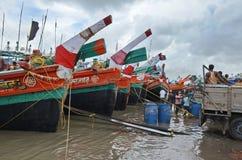 Τα αλιευτικά πλοιάρια Στοκ Φωτογραφίες