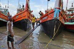 Τα αλιευτικά πλοιάρια Στοκ Φωτογραφία