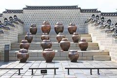 Τα βάζα ζύμωσης στο παλάτι Gyeongbokgung στοκ φωτογραφίες με δικαίωμα ελεύθερης χρήσης