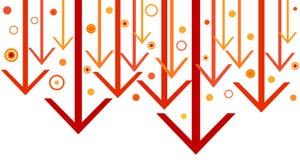 τα βέλη σχεδιάζουν κοκκινωπό Στοκ Εικόνα
