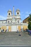 Τα βήματα, που φαίνονται ισπανικά από Piazza Di Spagna Στοκ Φωτογραφίες