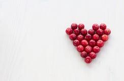 Τα βακκίνια με μορφή μιας καρδιάς Στοκ φωτογραφίες με δικαίωμα ελεύθερης χρήσης