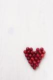 Τα βακκίνια με μορφή μιας καρδιάς Στοκ Εικόνα