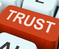 Τα βασικά μέσα εμπιστοσύνης θεωρούν ή πίστη στοκ εικόνες