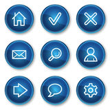τα βασικά μπλε κουμπιά πε&r Στοκ Εικόνες